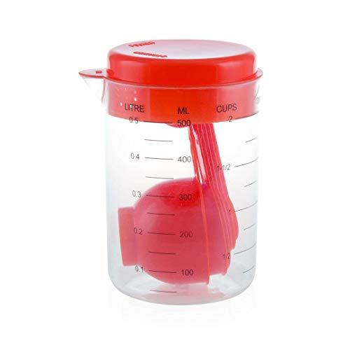 Vaso medidor 500 ml con accesorios, jarra medición, taza para medidas de alimentos, cucharas medidoras, utensilios de cocina
