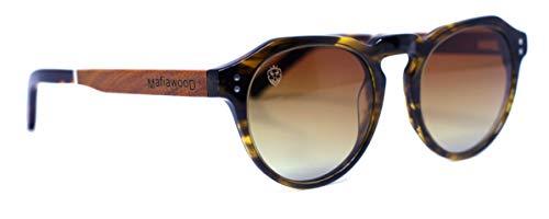 Óculos de Sol Mickey, Mafia Wood Exclusive Wear, Adulto Unissex, Bege, M