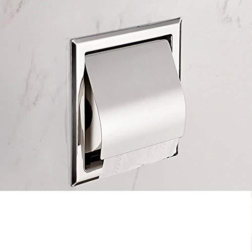DING LAMP in Acciaio Inox a Scomparsa Porta Asciugamani/a Parete/Embedded Titolare della Carta igienica/Albergo Rotolo di Carta igienica Titolare-A,Silver