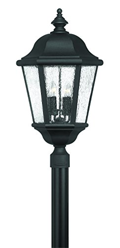Hinkley 1677BK Traditional Four Light Wall Mount from Edgewater collection in Blackfinish,