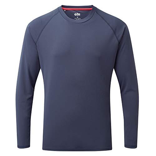 Gill Herren UV Tec Crew Neck Long Sleeve Quick Dry Fishing Tee Shirt, Herren, Bluse, UV011, Ocean, X-Large