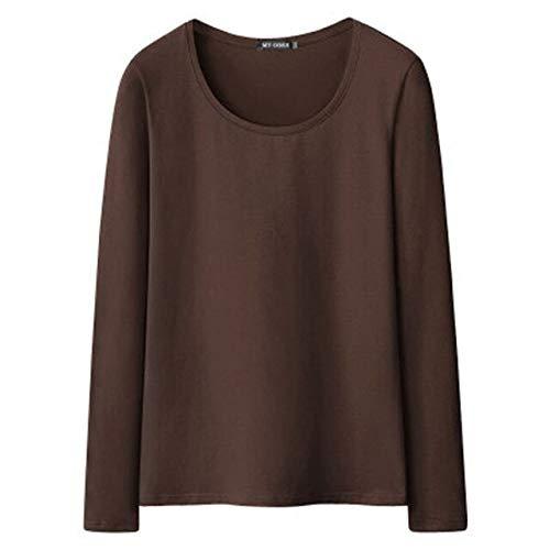 ADSIKOOJF katoenen t-shirt voor meisjes en meisjes, casual lange mouwen t-shirt voor dames
