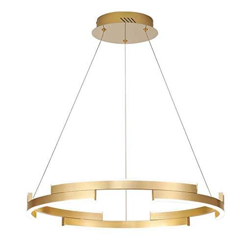 Hai Ying Ronde kroonluchter, restaurantverlichting, slaapkamer kantoor woonkamer hanglamp creatieve gouden aluminium hanglamp, boven- en onderverlichting