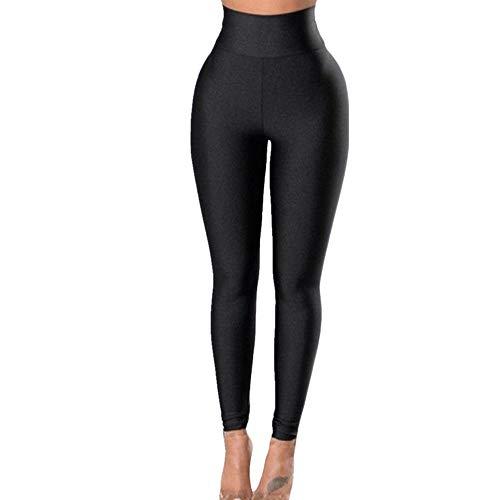 N\P Pantalones deportivos de secado rápido para mujer con faja de color puro