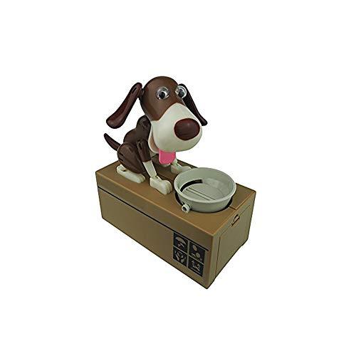 Netter Hund Piggy Bank Husky Dog-Bank-Spielzeug-Münzen-Bank Robotic Dog Bank Doggy Münze Bank Canine Geld Box Black & Brown
