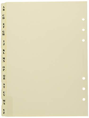 Filofax Réf 341664 Recharge index A-Z A5 Crème (Import Royaume Uni)
