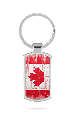 Schlüsselanhänger mit Gravur Wunschtext Name Canada Kanada 1
