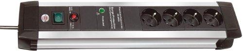 Preisvergleich Produktbild Brennenstuhl Premium Protect Line Steckdosenleiste (4-Fach,  3, 0 m) schwarz / grau
