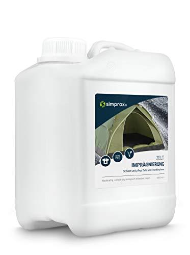 simprax® Zelt Imprägnierung Spray-On 2,5 Liter Imprägniermittel umweltfreundlich - GOTS, Oeko-TEX - UV-stabil, vegan