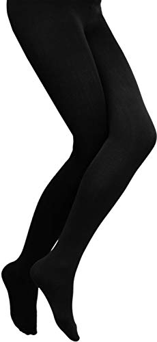 normani 3 × Damen Thermo Strumpfhose flauschig warm mit Innenflanell in 3 Farben Farbe Schwarz Größe 40-42