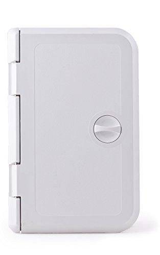 wellenshop Klappe Inspektionsluke Zugansklappe 285 x 180 mm mit Drehverschluss Kunststoff Weiß für Staufach in Boot/Wohnmobil