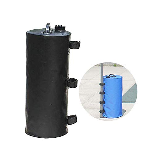 SEESEE.U Parasol Base Weights, Plastic Gazebo Leg Weight, Tear, Weather and Resistant, Water Fillable, Up to 46 Kg, Perfect for Outdoor Garden Parasol Shelters Gazebos,Black,S