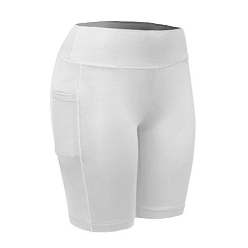 Guiran Pantalones Cortos De Compresión Deporte Fitness Pantalón Corto Leggings Base Layer para Yoga Pilates Running