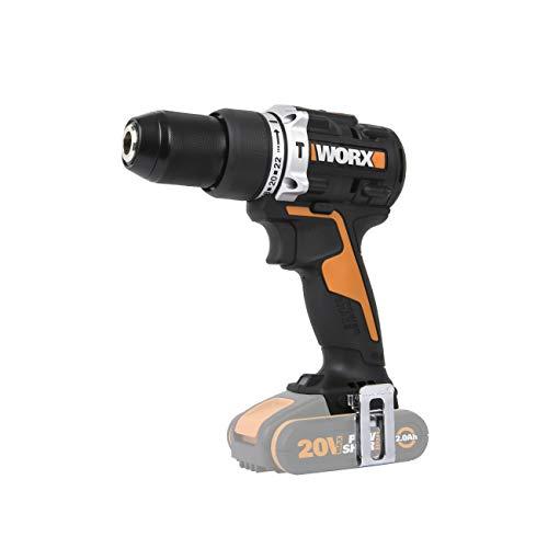 WORX WX352.9 18V (20V MAX) 60Nm Brushless Motor Cordless Combi Hammer Drill-Bare Unit, 18 V