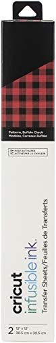 Cricut Patterned Transfer Sheets, Buffalo Check Print Infusible Ink