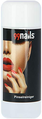 99nails Pinselreiniger 1er Pack (1 x 100 ml) Enfernt Fiberglas Gel UV Acryl Aquarellfarben Cleaner Kosmetikpinsel Reinigung Pinsel Reiniger