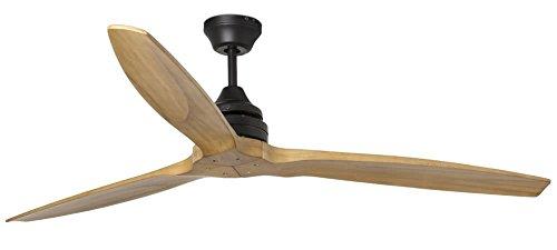 Faro 33718 Ventilator mit Holzflügeln, ohne Licht, Teak