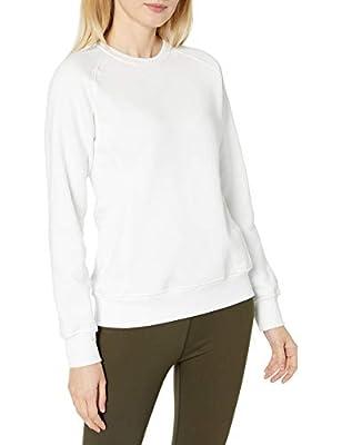 Russell Athletic Women's V-Notch Fleece Sweatshirt, White, M