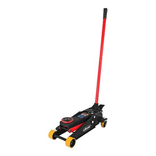 Vigor Hydraulik-Rangier-Wagenheber (Belastbarkeit: bis zu 3 t, Gewicht: 31 kg) V6029, Schwarz-Rot
