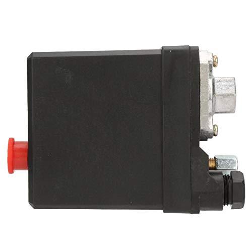 Kuuleyn Interruptor de presión del compresor de Aire, Interruptor de Control de presión de un Solo Orificio Vertical para compresor de Aire 380V 75~175psi