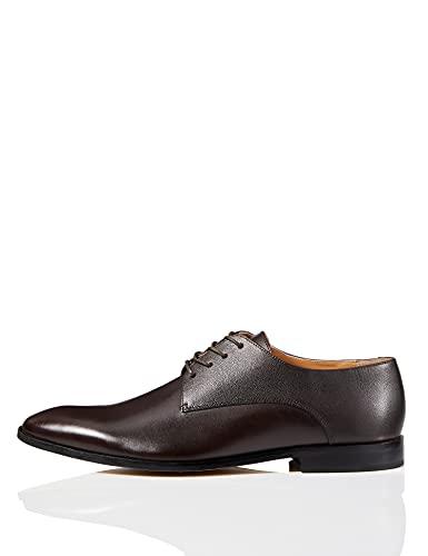 find. Zapato de Cordones Piel Grabada para Hombre, Marrón (Dark Brown), 43 EU
