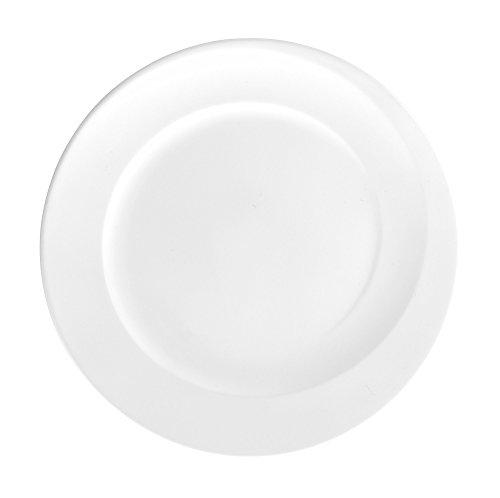 Frühstücksteller rund 23 cm 6 Stück Paso weiss uni 00003 von Seltmann Weiden