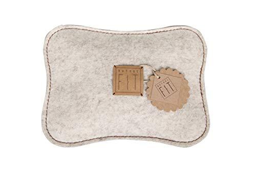 NATURE FIT Zirbenkissen, Duftkissen, Gr. L, aus Wollfilz, gefüllt mit frisch gehobelter Zirbenspäne, Handmade & Design in Bavaria