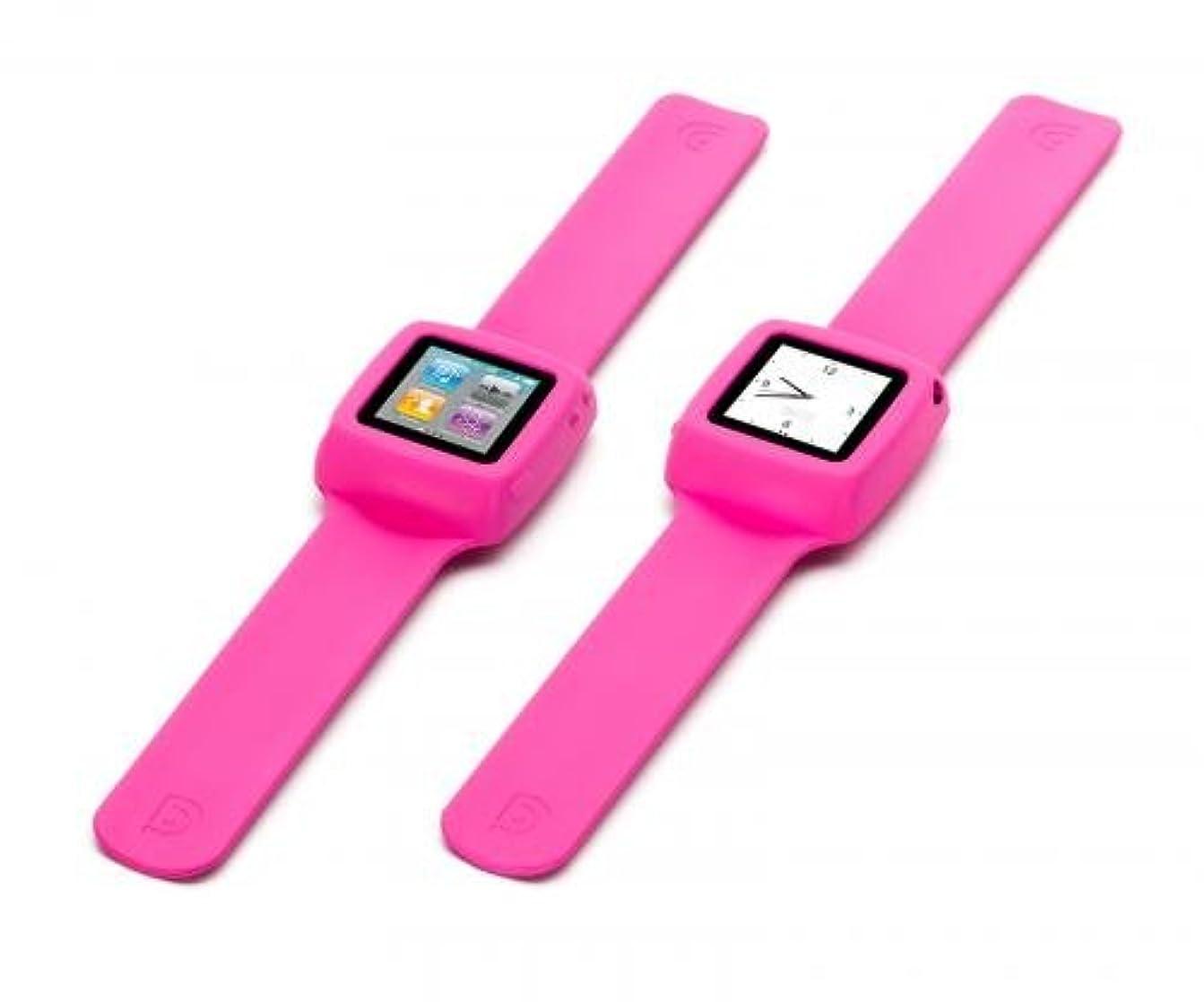 上昇インデックスオリエンテーションGriffin Technology Slap for iPod nano (6th generation) Pink
