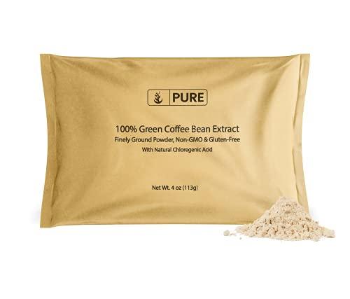 Green Coffee Bean Extract Powder (4 oz) 2% Caffeine & 50% Chlorogenic Acid (HPLAC) Fine Ground