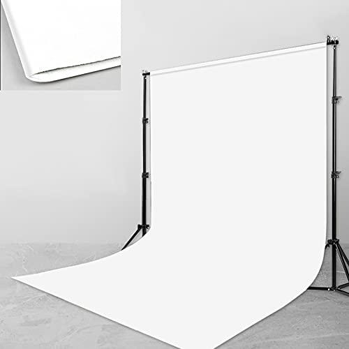 DYQFS Fondo Fotografico con Soporte, Telón de Fondo de Color Sólido Blanco,...