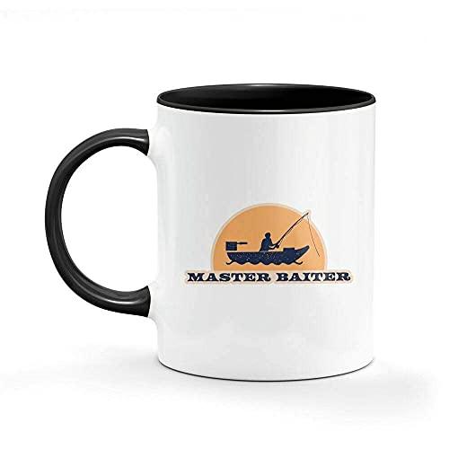 N\A Taza de café Master Baiter Taza Divertida Regalos de Oficina Café para él Su Taza de cerámica única de 11 oz