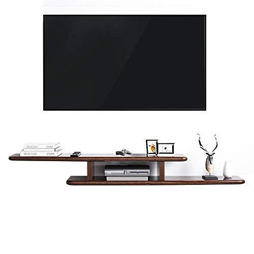 Equipo para el hogar Soporte para TV Armario Consola montada en la pared Medios de almacenamiento adicionales que ayudan a mantener todos los muebles de TV perfectamente organizados (Color: Negro T