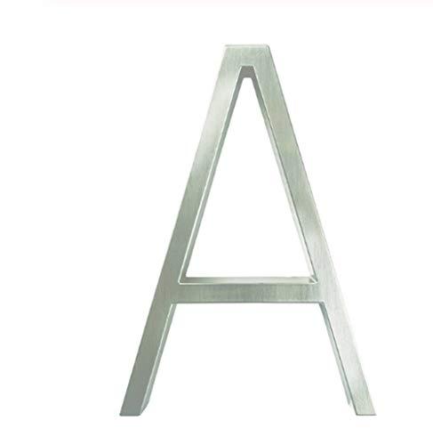 S`good huisnummers grote 3D modern huisnummer deur huisadres cijfers voor huisnummer digitale deur-buitenplaat platen platen 5 inch.0-9 zilver #111111