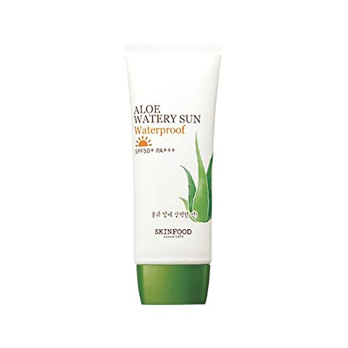 Skinfood Super popular specialty store Aloe Watery Sun Overseas parallel import regular item Waterproof PA+++ SPF50+ 50ml