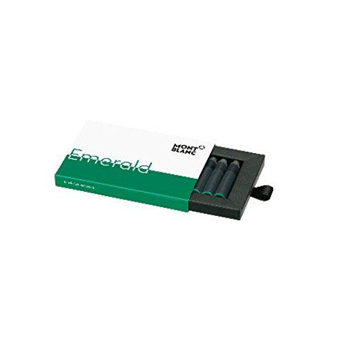 Montblanc 118125 - Cartuchos de Tinta para plumas estilográficas – Refill de Tinta, alta calidad, color Emerald Green (verde esmeralda), 8 unidades por paquete