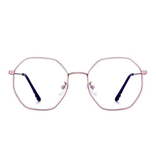 JM Mujer Anti Luz Azul Bloquea Gafas de Moda Diseñador Computadora Anteojos Reduce Fatiga Visual Rosa