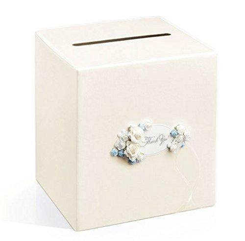 Geschenkkartenbox Kartenbox Hochzeit Glückwunschkartenbox Briefbox Geldbox Taufe - cremefarben/von Haus der Herzen ®