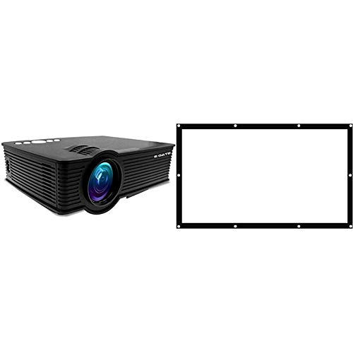 "EGATE i9 MIRACAST LED HD Projector - HD 1920 X 1080 – HDMI – USB - VGA – 120"" Display_Egate EYE64 Projector Screen Eyelet, 6 x 4 feet Combo"