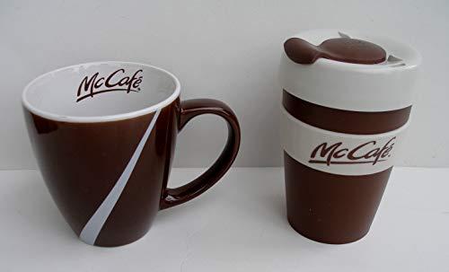 Mc Donald´s - Mc Cafe - Special Edition Set - 1 Kaffeetasse Porzellan und 1 Becher Cup To Go Kunststoff - Kaffeebecher - Braun