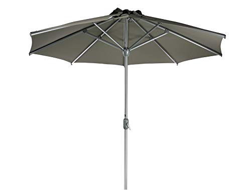 SORARA Apple Parasol Sombrilla Jardin, Marrón, Ø 300 cm / 3m