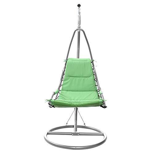 KASANOVA Poltrona a Dondolo Sospesa con Braccio in Metallo - Dondolo con Seduta Oscillante - 1 Seduta - 90x192x90 cm - Portata max: 90 kg - Colore Verde