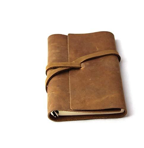 MISDD Cuaderno de Notas Efectos de Escritorio de Ultralarge Bloc de Notas de Cuero Grueso Cuaderno del Diario (Color : 4)