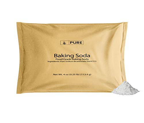 Pure Sodium Bicarbonate (Baking Soda) (4 oz.), Eco-Friendly Packaging, Highest Purity, Food Grade
