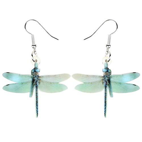 letaowl Pendientes lindos libélula pendientes gota insectos joyería para mujeres niñas niños encantos de regalo accesorios multicolor