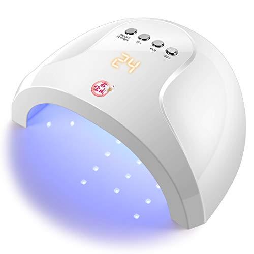 花信風 48W UV LED ジェルネイル ライト【PSE認証/赤外線自動センサー/無痛モード】 【日本語説明書/4つタイマー設定】 白い 硬化用ライト