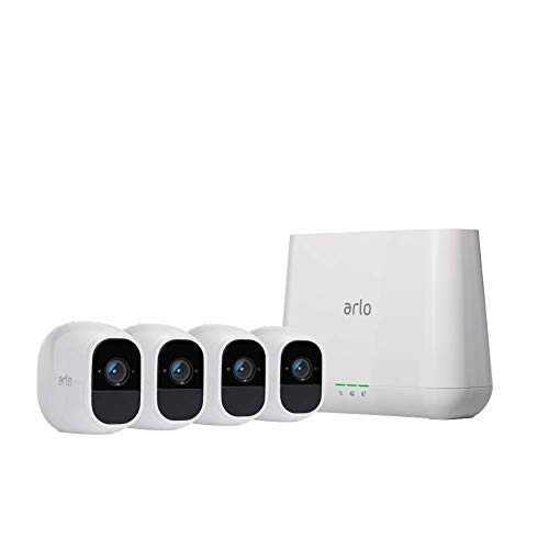 Arlo Technologies, Inc VMS4430P Pro 2 4-Camera Indoor/Outdoor Wireless 1080p Security Camera System, White