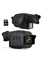 """KESITIS Night Vision Monocular Infrared Night Vision Scope Digital Monocular with 1.5"""" TFT LCD Take Photo/Video Recording/Playback Function for Outdoor/Surveillance/Camping/Hiking/Bird Watching"""