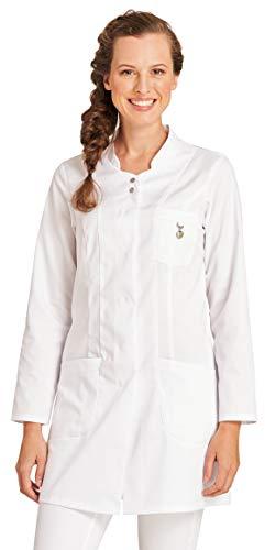 clinicfashion 10214020 Langkasack weiß für Damen, Mischgewebe, Größe 36