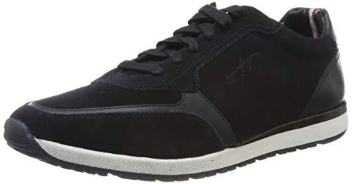 Tommy Hilfiger Herren Premium Suede Runner FM0 Sneaker, Blau (Navy Fm0fm02551-Cki), 43 EU