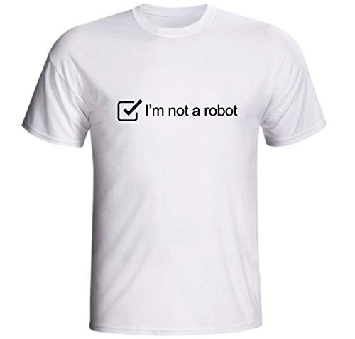 Camiseta I'm Not A Robot Eu Não Sou Um Robô Internet Captcha